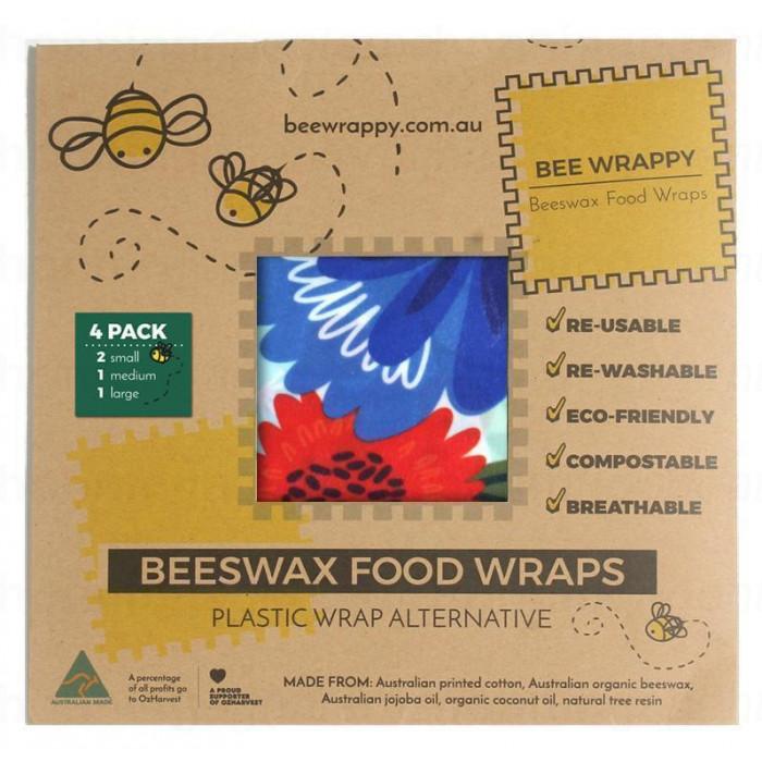 Bee Wrappy - food wraps - 4-pak, økologisk