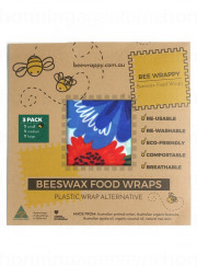 Bee Wrappy - food wraps - 3-pak, økologisk