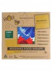 Bee Wrappy - food wraps - 4-pak, økologisk