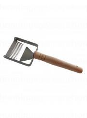 Skrællehøvl, metal med træhåndtag