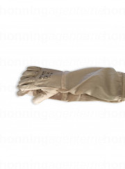 Læderhandsker med manchet